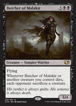 Magic The Gathering - Butcher of Malakir - Commander 2014
