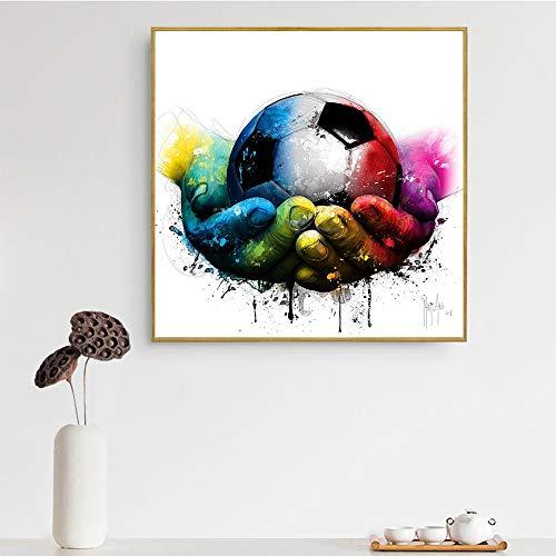 hetingyue Senza Cornice Pop Art Pittura a Olio Astratta Donna a Forma di Teschio Tacchi Alti Labbra Ragazza Wall Art Canvas 70x70cm
