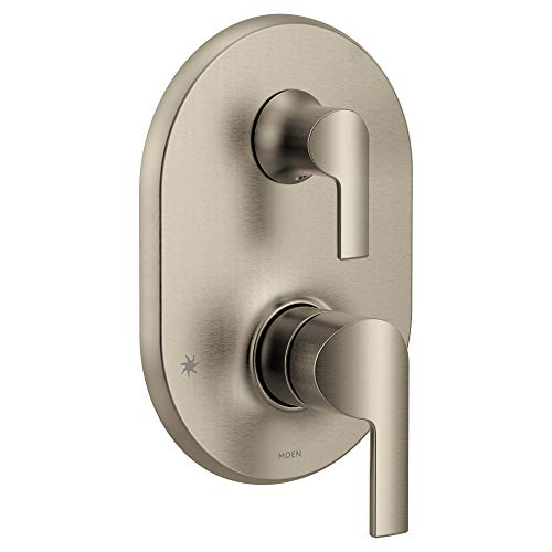 Moen UTS2611BN Doux Collection M-CORE 3-Series 2-Handle Shower Trim with Integrated Transfer, Valve Required, Brushed Nickel