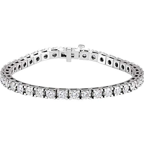 Bracciale da donna in oro bianco 18 ct 9 1/6 CTW con diamante naturale tennis 7 1/4 '