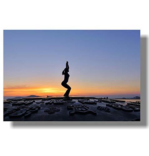 REDWPQ Carteles de anatomía del Yoga: Muscular, esquelétic