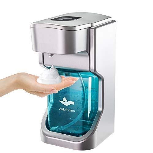 Taiso Dispensador de jabón automático, dispensadores de jabón de Espuma Ajustables Infrarrojos sin Contacto, Botellas de 500 ml, dispensador de jabón montado en la Pared para baño, Cocina, Oficina