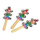 3PCS Campanas de trineo de mano, diseño de trineo de mano para decoración de vacaciones, casas, decoración de Navidad, juguete de instrumentos musicales