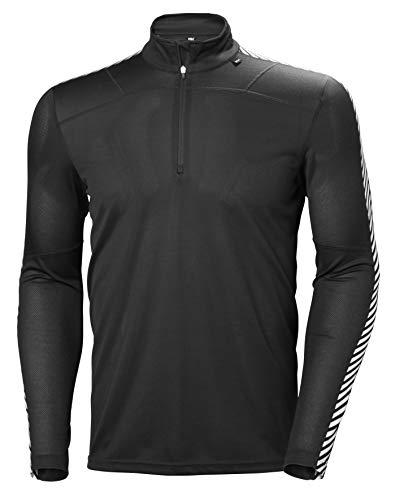 Helly Hansen HH LIFA 1/2 Zip Camiseta Deporte, Hombre, Negro