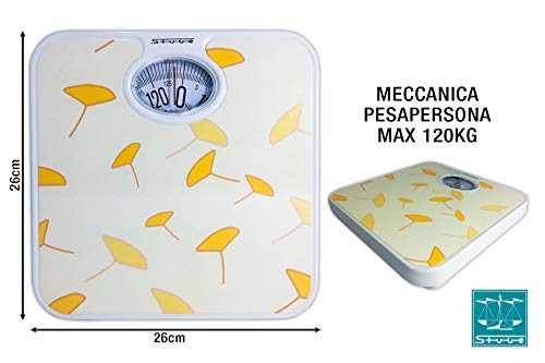 Stube 120Gelb Mechanical Personal Scale Yellow Personal Scale–Personal Scales (Analogue, Yellow, 245mm, 265mm, 42mm)