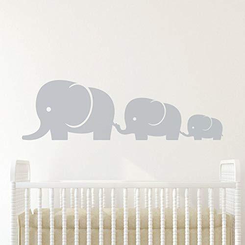 Elefante familia bebé habitación pared calcomanía vinilo pared pegatinas sala de estar dormitorio guardería Mural decoración del hogar
