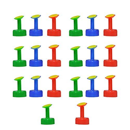 DOITOOL 20 Stück Gießaufsatz für Flaschen Plastik Sprinkler Kopf für Gießkanne Bewässerung Flasche Tops für Indoor-Setzlinge Pflanzengarten Bewässerung (Zufällige Farbe)