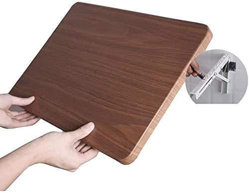LAMTON Laptop Escritorio de Oficina pequeña Pared de Madera Plegable montado en alas abatibles Tabla de Ahorro de Espacio Flotante de la Tabla con los Soportes de Pintura cenar Escritorio de la Tabla
