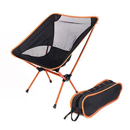 Asolym Silla de Camping portátil, compacta, Ultraligera, Plegable, pequeña, Plegable, Plegable, Liviana, para Campamento, Picnic, al Aire Libre, Pesca,Naranja