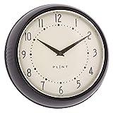 Plint Retro Wanduhr Uhr Küchenuhr Dänisches Design Wall Clock Black