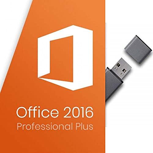 MS Office Professional Plus 2016 + Lizenz-Key 32/64 Bit für 1 PC mit USB-Stick Deutsche Vollversion