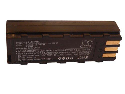 vhbw batería 2600mAh (3.7V) para Barcode Scanner, escáner Symbol DS3478, DS3578, LS3478, LS3578, XS3478 por 21-62606-01, BTRY-LS34IAB00-00.