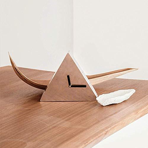 VIWIV Reloj de Pared Reloj de Pared Reloj de Plata Interior Decoración de la Personalidad Creativa Reloj de Hierro 22.5 * 22.5 (cm)