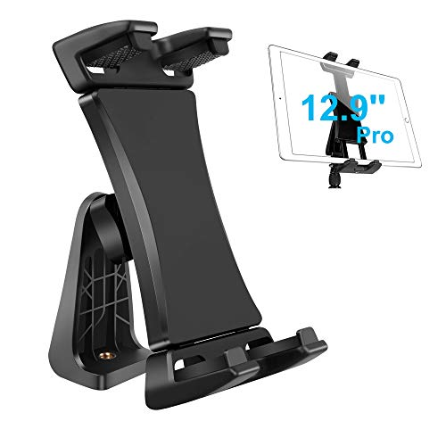 IPad Tripod Mount Adapter 360 Degree Rotatable Universal Tablet Clamp Holder for iPad Pro 12.9 11 10.5, iPad Air Mini, Surface Tab, Galaxy Tab and 3.5 to 13.5in Phone Tablet, for Tripod, Monopod