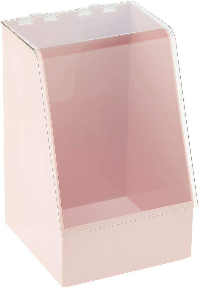 organiseur maquillage pour fards mascara petit rangement salle de bain en plastique pour cosm/étiques ou maquillage mDesign bo/îte de rangement avec couvercle gris clair//transparent vernis etc