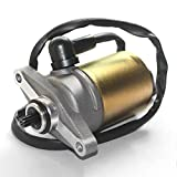 Trkimal 10 Teeth Starter Motor with Wire Cable for GY6 49cc 50cc Scooter 139QMB Moped ATV Go Karts TAOTAO SUNL ROKETA TANK JCL BAJA