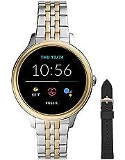 Fossil Femme Montre connectée Gen 5e avec Haut-Parleur, fréquence Cardiaque, NFC et alertes pour Smartphones + Bracelet Montre S221304