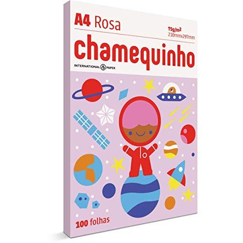 Chamequinho Papel A4, 210 x 297 mm, 100 Folhas, Rosa