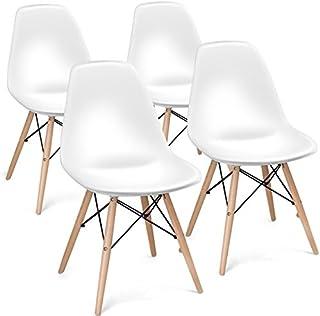 Giantex Set of 4 Mid Century Modern Style DSW Chair Wood...