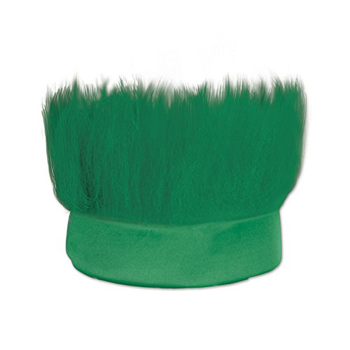 Beistle Hairy Headband Sports Events Tailgate Happy St Patrick's Day Party Supplies, One Size, Green