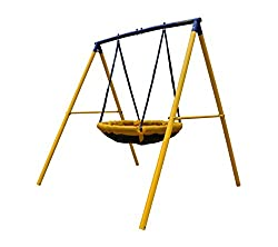 DESIGNED FOR 2 CHILDREN TO USE AT ONCE - no more having to take turns! Individual maximum weight of 45KG, combined maximum user weight of 90KG Weather resistant powder coated frame. Our frames use 50MM DIAMETER TUBING so they are strong and sturdy wh...