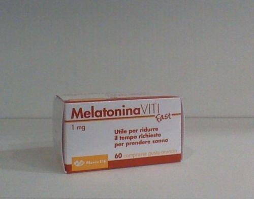 Melatonina Viti Fast da 1 mg- 60 compresse gusto arancia migliora qualità sonno