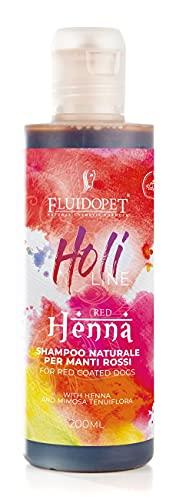 FluidoPet Holi Line - Henné Shampoo Naturale per Manti Rossi, Mogano e Albicocca 200ML