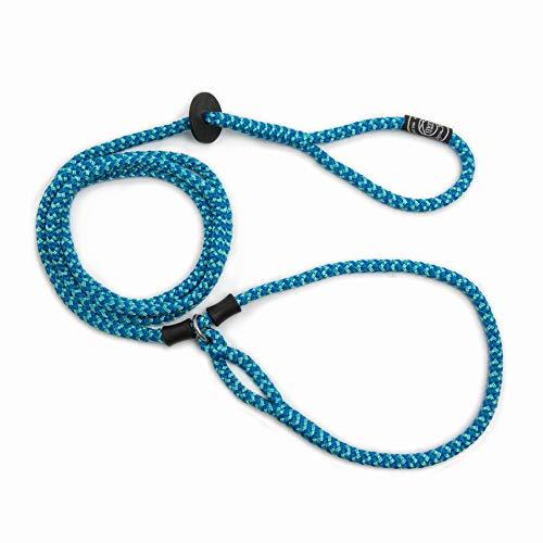 Harness Lead Geschirr Leine ist ausbruchsicher, reduziert Zugluft, Medium/Large 40 to 170 lbs, Blau/Mehrfarbig