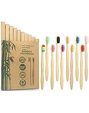 Cepillo De Dientes Ecológico Paquete De 10 Cepillo Dientes Bambu Cepillo De Dientes Suave Cepillos De Dientes Manuales De Bambú Libre De Bpa Cepillo De Dientes Ecológico Y Biodegradable