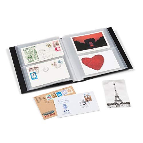 Star Collect (700046 Sammelalbum - für 200 Postkarten, Ansichtskarten, Briefe, FDC in DIN C6 Format – schwarz