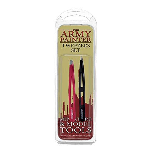 The Army Painter | Set de 2 Pinzas | Pinza de Punta Plana y Pinza de Punta de Aguja|perfectas para trabajo con Plástico, Resina y Metal | Juego de Mesa y Modelado de Figuras Miniatura