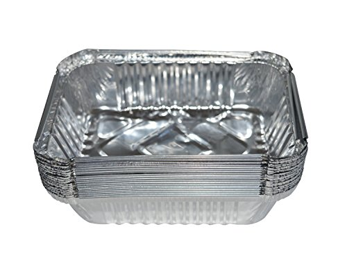 Bekith Small 7-1/2-Inch-by-5-inch Aluminum Drip Pans Table Pan, Set of 20