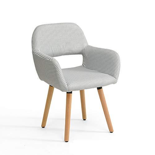 LJZslhei Stuhl Massivholz Stuhl Einfache Moderne Computer Stuhl Kreative Zurück Schreibtisch Stuhl Freizeit Stuhl Esszimmer Stuhl Streifen Muster