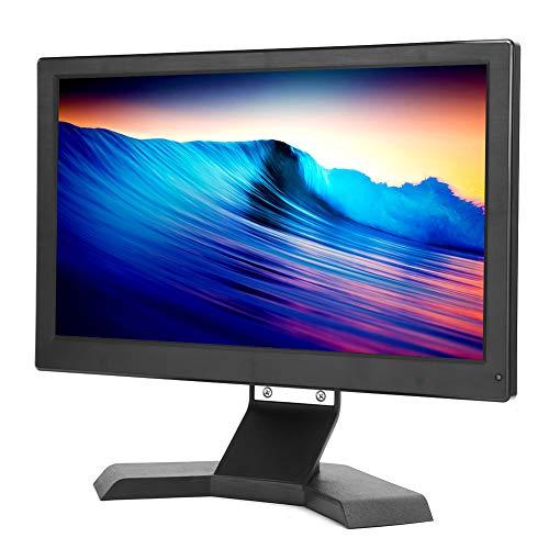Monitor LED, 13,3 pulg. 1920 x 1080 16: 9 HD 110-240 V, Monitor de Audio y vídeo, para DVD de portátil PS4(Negro)