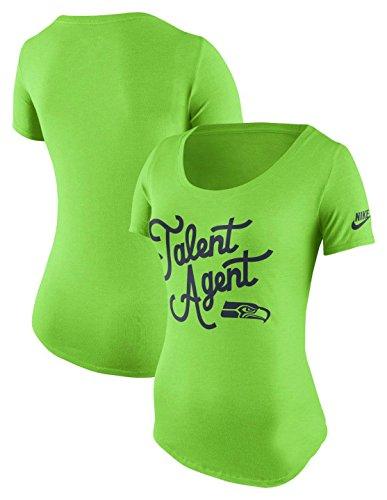 Seattle Seahawks Women's Size Medium Talent Agent Cap Sleeve Shirt Lime