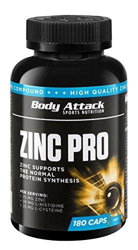 Body Attack Zinc Pro, 1er Pack (1 x 180 Kapseln)