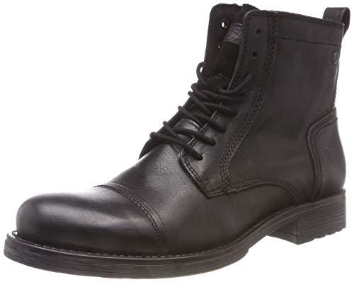 JACK & JONES Herren JFWRUSSEL Leather PRE Klassische Stiefel, Grau (Anthracite Anthracite), 43 EU