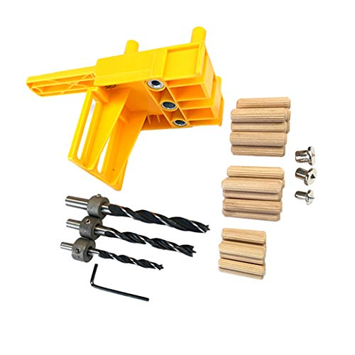 Handheld Woodworking Doweling Jig Drill Guide Wood Dowel Drilling Hole Saw 41pcs Home & Garden Tools & Home Improvement for 4th of July Onsale