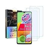 [3 Unidades] UIOK funda protectora Compatible con Samsung Galaxy A90(5G) Cristal Templado, Resistente a Arañazos Vidrio Templado, 9H Dureza,Alta Definicion Compatible con Samsung A90(5G)