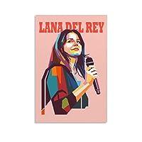 Lana Del Reyラナ・デル・レイ1 壁飾り キャンバス 印刷 ポスター バスルーム 寝室装飾 絵画 油彩画 ウォールアート 素晴らしいギフト16×24inch(40×60cm)