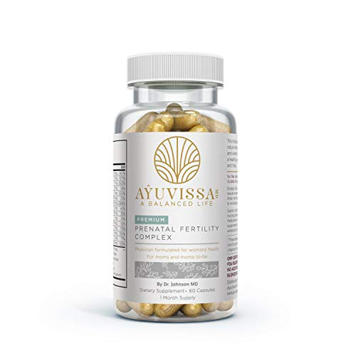Ayuvissa Fertility PreNatal Vitamins Balances Hormones, Regulates Cycles, Aids Ovulation, Plant Based and Physician Formulated by Dr Johnson MD, 100% Guaranteed