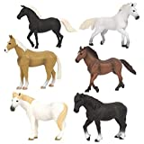 Terra by Battat – Horses Set – Detailed Miniature Horse Toys with Toy Mustang for Kids 3+ (6 pc)