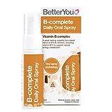 BetterYou B Complete Oral Spray   Vitamin B Complex Supplement   Suitable for Vegans   Sugar & Caffeine Free   Natural Peach, Plum & Raspberry Flavour