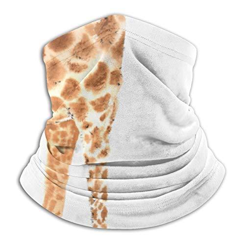 YBEAYQYXR Jirafa de acuarela con cejas de plumas blancas unisex de microfibra para el cuello, protector solar resistente al viento, pasamontañas para exteriores