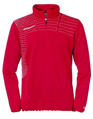 uhlsport Pullover Match 1/4 Zip Top, Rot/Weiß, XL
