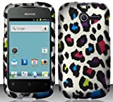 4 Items Combo For Huawei Ascend Y M866 (StraightTalk) Colorful Leopard Design...