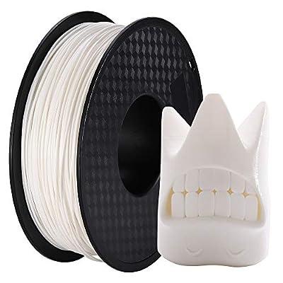 DOYOLLA PLA 3D Printer Printing Filament, 1.75 mm, Dimensional Accuracy +/- 0.02 mm, 1 kg Spool, Fit Most FDM Printer (White)