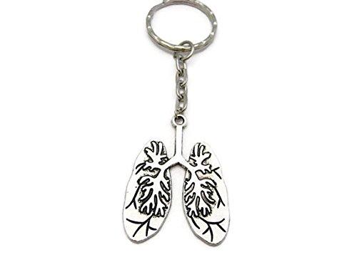Llavero de los pulmones humanos con llavero de la ciencia de la biología llavero anatómico llavero de anatomía llavero de regalo de biología