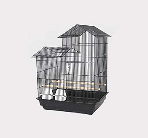 Space- rack Z-W-Dong Maison Type Cage Perruche, Robuste de Boîtes d'élevage en Acier Inoxydable Cages for l'affichage et la visualisation Oiseaux/Cages à Oiseaux (Color : A, Size : 52 * 41 * 70CM)