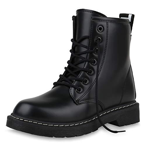 SCARPE VITA Dames Laarzen Worker Laarzen Makkelijk Gevoerde Laarzen Lederlook Schoenen Veters Comfortabel Boots-Met-Veters